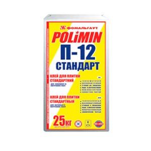"""Клей для плитки """"Стандарт-плюс"""" П-12 Полимин (25кг)"""