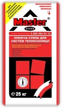 Клей для приклеивания и армирования пенопласта Мастер-Супер (25кг)