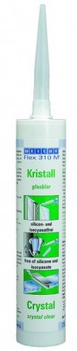 Клей/герметик Прозрачный (кристально-чистый) эластичный клей. Нейтральный, оптический.