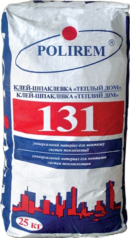 """Клей Полірем СКС 131 """"Теплий дім"""" мішок 25 кг"""