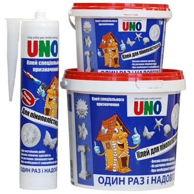 Клей UNO для пенополистирола Полистирол, 1 кг.