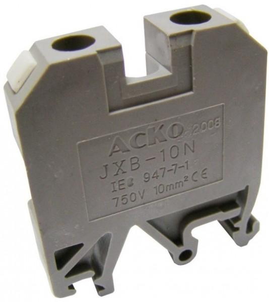 Клеммник наборной винтовой на DIN-рейку JXB 10/35 серый