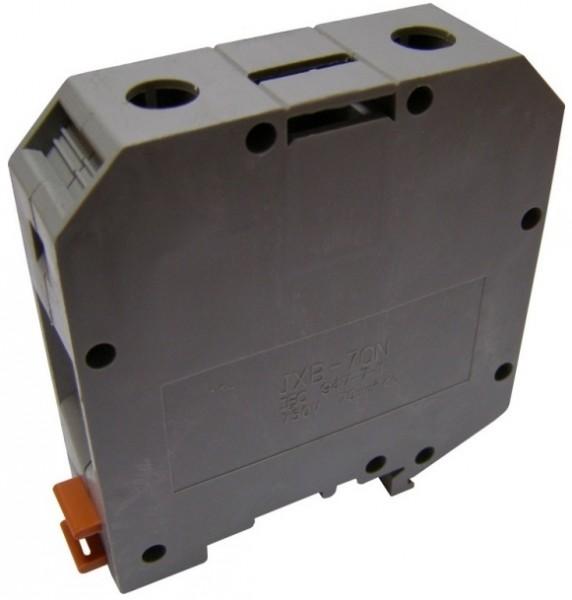 Клеммник наборной винтовой на DIN-рейку JXB 70/35 серый