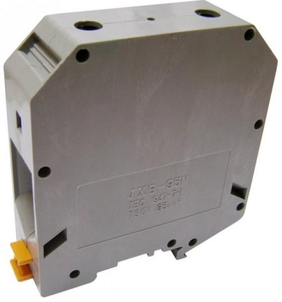 Клеммник наборной винтовой на DIN-рейку JXB 95/35 серый