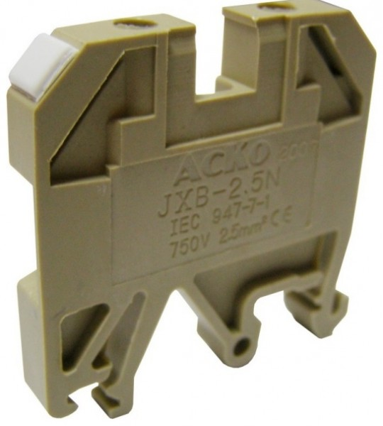 Клеммники наборные винтовые на DIN-рейку JXB 2,5/35 желтый
