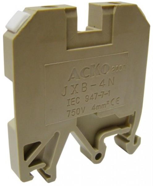 Клеммники наборные винтовые на DIN-рейку JXB 4/35 желтый/ JXB 4/35 зеленый/ JXB 4/35 красный