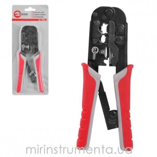 Клещи для опрессовки штекеров INTERTOOL HT-7052