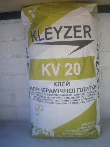 Клеющая смесь для плитки KLEYZER KV-20 (25кг)