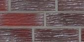 Клинкерный кирпич, коричневая серия, бургунд гладкий, пустотелый (240*150*71)