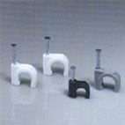 Клипса с гвоздем CCC-4mm (белая, 100 шт.)