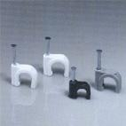 Клипса с гвоздем CCC-7mm (белая, 100 шт.)
