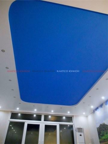 Клипсо Юнион натяжной тканевый эксклюзивный потолок Clipso с блеском придаст роскошь и комфорт в вашем интерьере