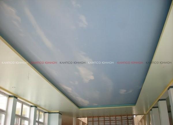 Натяжной тканевый потолок Clipso влагостойкий для бассейнов от компании Клипсо Юнион