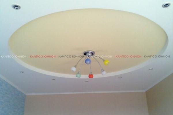 Клипсо Юнион натяжной тканевый цветной потолок Clipso