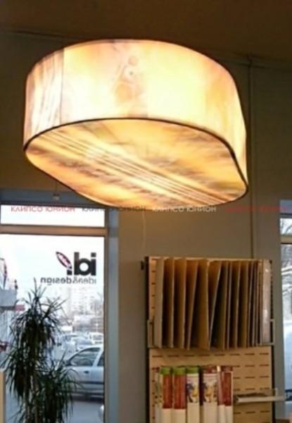 Клипсо Юнион световые, парящие натяжные потолки для коммерческих помещений, ресторанов, салонов, магазинов