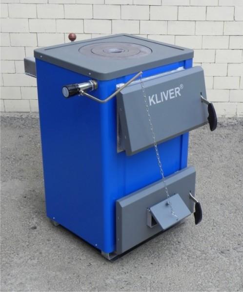 Кливер 14-П (с плитой) котел отопительный твердотопливный