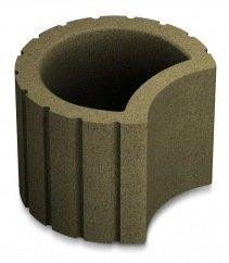 Фото  1 Клумба бетонная полумесяц 309х345х200 оливка 1949978