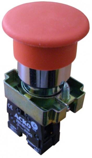 "Кнопка ""грибок"" XB2-BC42(d 40 мм) ""Стоп"" красная"