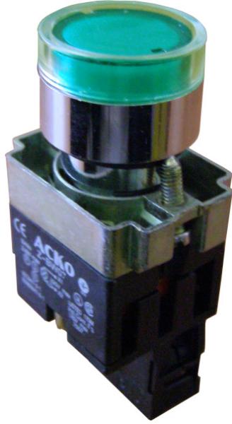 Кнопка с подсветкой XB2-BW3571 желтая/ XB2-BW3471 красная/ XB2-BW3371 зеленая
