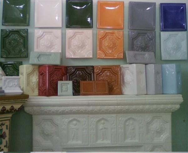 кольори кахлів для облицювання камінів, печей, кухонь.