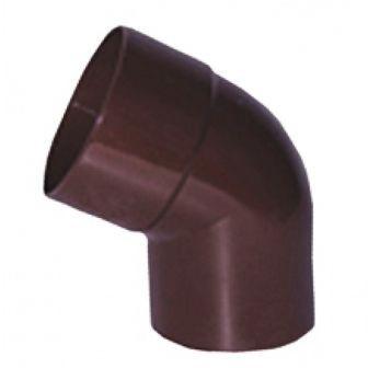 Колено 60° водосточной системы PROFIL 90/75;коричневый, белый;диаметр 75 мм