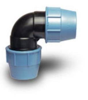 Колено ПЭ-ПЭ D 25 х 25 мм