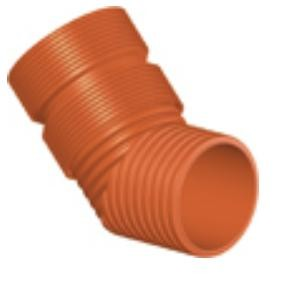 Колено ПП для гофрированных труб InCor D 200 мм х 45*