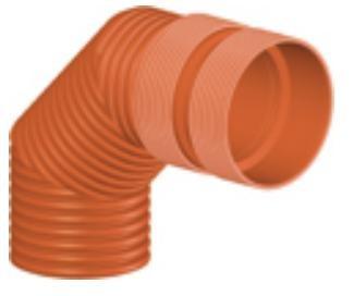 Колено ПП для гофрированных труб InCor D 250 мм х 90*