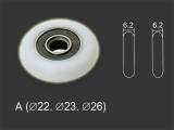 Колесико тип А 22,23,26,28мм