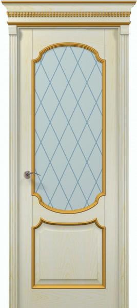 Коллекция Classic. Полотно Barocco, шпон ясень патина белая.