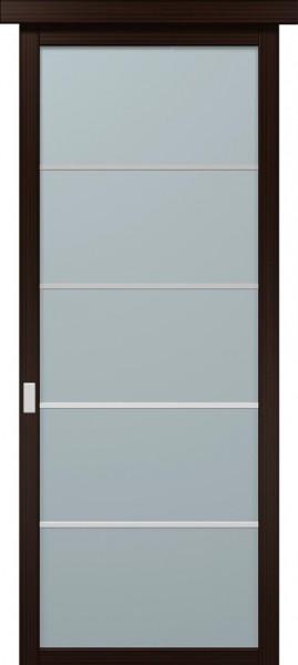 Коллекция COSMOPOLITAN. Раздвижные двери. Полотно CP-SL-1, шпон розовое дерево.