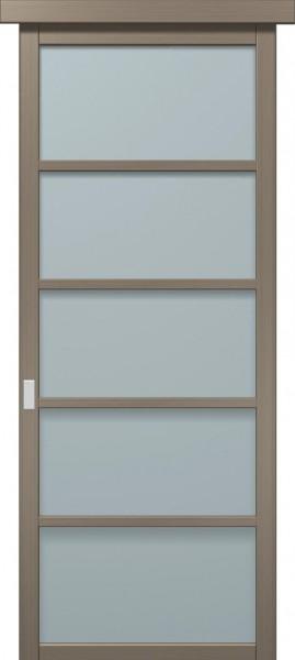 Коллекция COSMOPOLITAN. Раздвижные двери. Полотно CP-SL-2, шпон сандаловое дерево.
