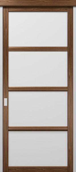 Коллекция COSMOPOLITAN. Раздвижные двери. Полотно CP-SL-3, шпон орех.