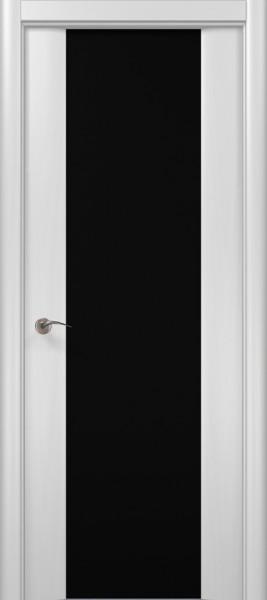 Коллекция Modern. Полотно Lago/триплекс черный, шпон ясень белоснежный.