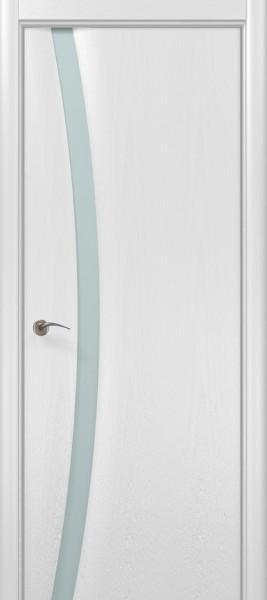 Коллекция Modern. Полотно Trento-C, шпон ясень белоснежный.