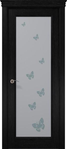 Коллекция Prestige. Полотно PR-00 бабочки, шпон дуб негро.