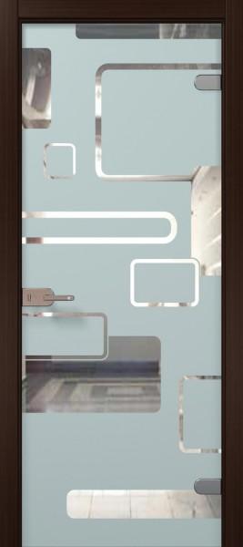 Коллекция Vetro. Полотно Figura, шпон венге, тонировка стекла бесцветная.