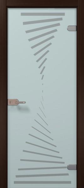 Коллекция Vetro. Полотно Infiniti, шпон венге, тонировка стекла бесцветная.