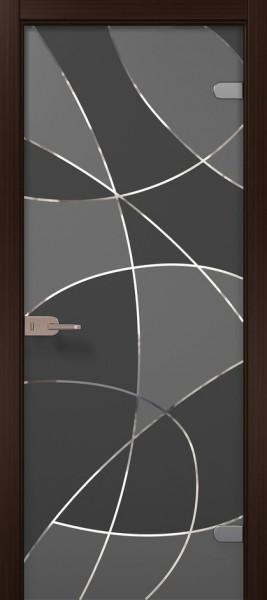 Коллекция Vetro. Полотно Vario, шпон венге, тонировка стекла графит.