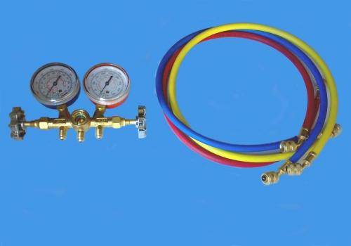 Коллектор 2-вент. с манометром Shine Year CH-536c R-12,22,502 3x90см Тайвань