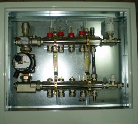 Коллектор для теплого пола Luxor на 11 выходов в сборе SGP11, 2540, 16x2