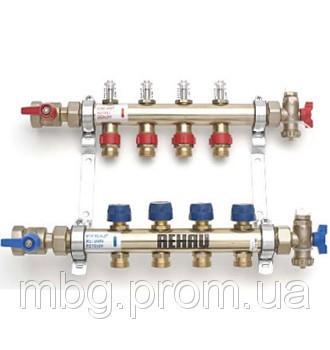 Коллектор распределительный HKV-D с расходомерами 13/4 10 контуров