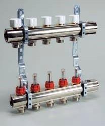 Коллекторная група с расходомерами и отсекающими клапанами Luxor KG, R, OT 7