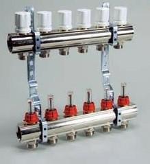 Коллекторная група с расходомерами и термо клапанами Luxor KG, R, T 8