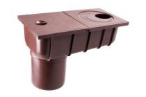 Колодец с прямым сливом, водосток Профил, ПВХ, система 130/100мм