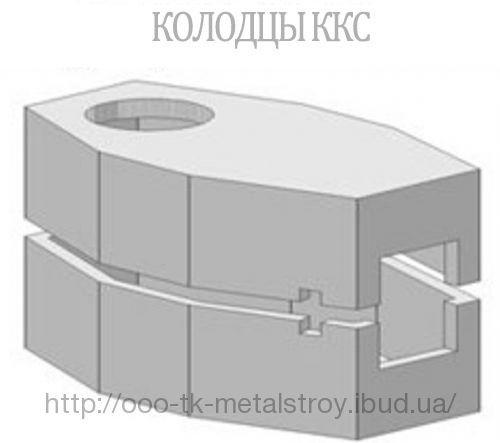 Колодец связи ККС4-1 разрезной