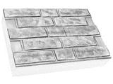 Фото  1 Термопанель ПСБ-С-25 40мм Колотый кирпич 600x400, белый цемент, с доб.елем. 1923499