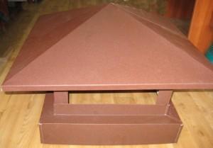 Колпак на дымоход мат Poliestr размер от 500х1000 до 500х1400