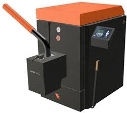 Комбинированный котел Н425 ЕКО - 25 кВт, ручная загрузка - дрова уголь, брикеты; автоматическая подача - пеллеты