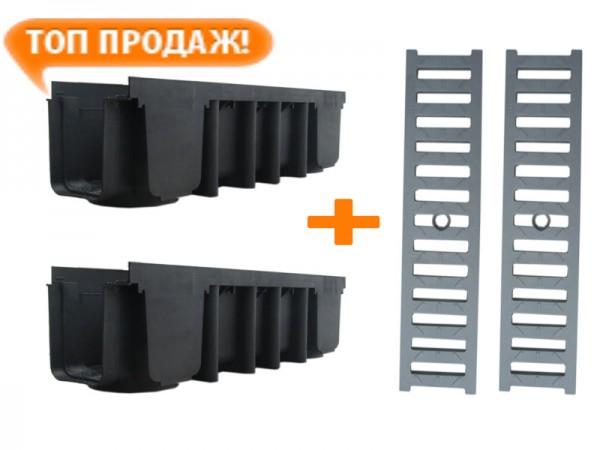 Компелекты лотков водосточных с дренажными решетками прочитать полностю тут www. kamp-eu. com